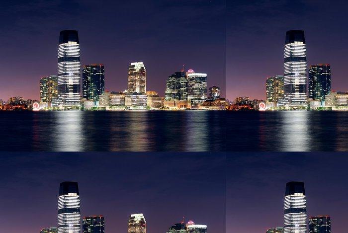 Tapeta Pixerstick Jersey City Skyline - Amerika