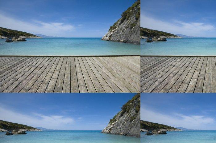 Tapeta Pixerstick Jetty na pobřeží - Prázdniny