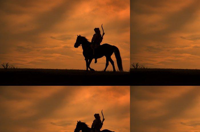 Tapeta Pixerstick Jezdci na koních na západ slunce - Úspěch