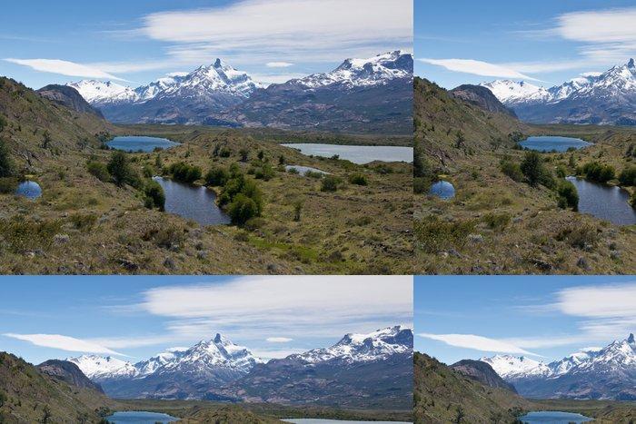 Tapeta Pixerstick Jezer a Andes z Estancia Cristina - Témata