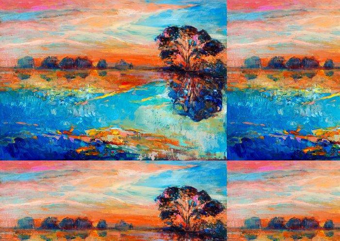 Vinylová Tapeta Jezero a stromy - Umění a tvorba