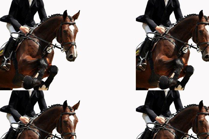 Tapeta Pixerstick Jízda na koních, jezdecký, jízda na koni, parkurové skákání, show jumping - Úspěch
