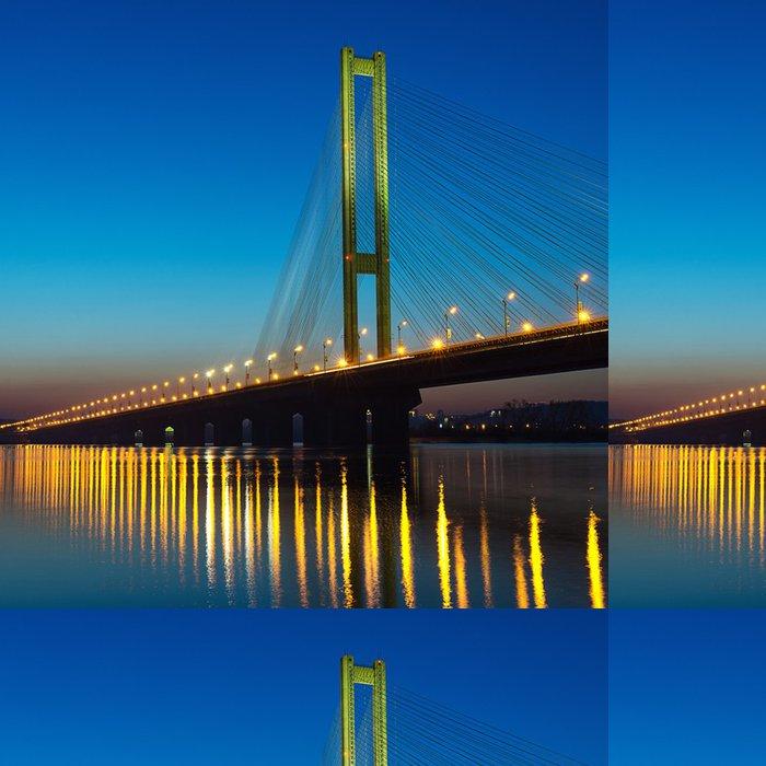 Tapeta Pixerstick Jižní most na západ slunce. Kyjev, Ukrajina - Prvky podnikání