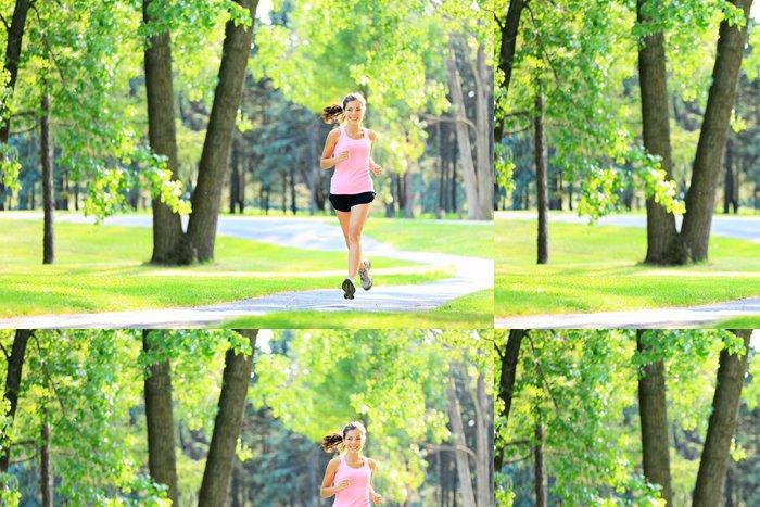 Tapeta Pixerstick Jogging žena běh v parku - Témata