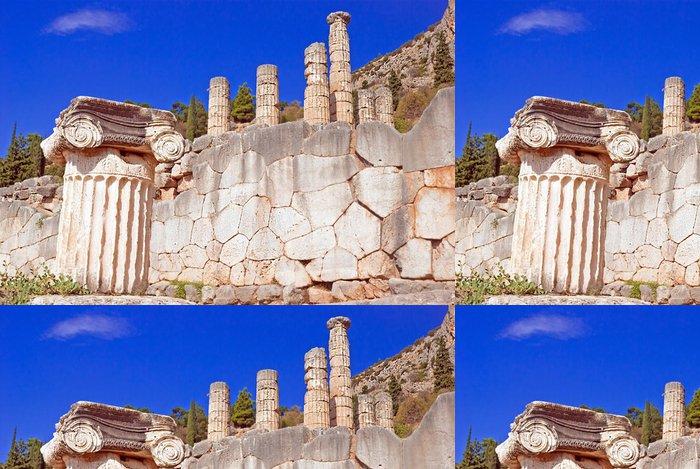 Tapeta Pixerstick Jónské sloupec Capital, architektonický detail na ostrově Delos, Řecko - Evropa
