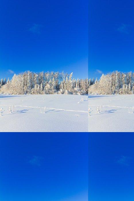 Tapeta Pixerstick Joyful Šťastný Zimní - Příroda a divočina