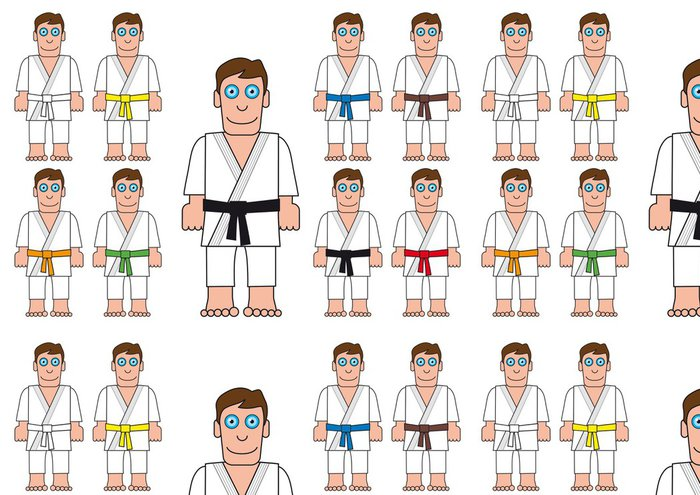 Vinylová Tapeta Judoka - Extrémní sporty