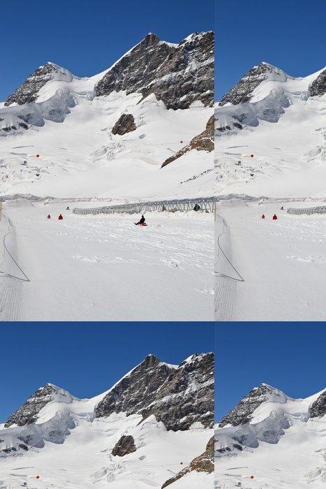 Tapeta Pixerstick Jungfraujoch Sáňkování - Prázdniny