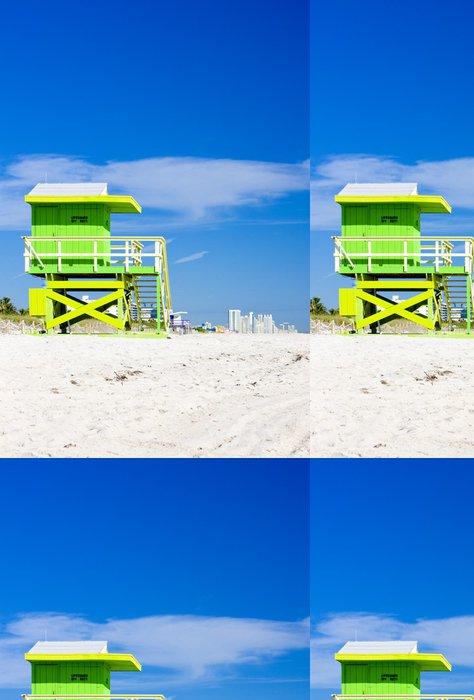 Vinylová Tapeta Kabina na pláži, Miami Beach, Florida, USA - Amerika