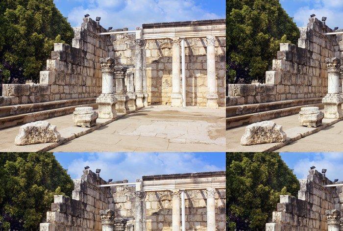 Tapeta Pixerstick Kafarnaum synagoga na Galilejského moře, Kafarnaum, Izrael - Střední Východ