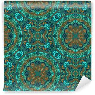 Vinylová Tapeta Kaleidoskop. Vektorové bezešvé pozadí