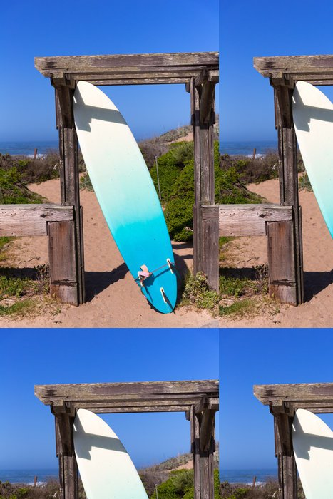 Tapeta Pixerstick Kalifornie surfovací prkno na pláži v Cabrillo dálnice Route 1 - Amerika