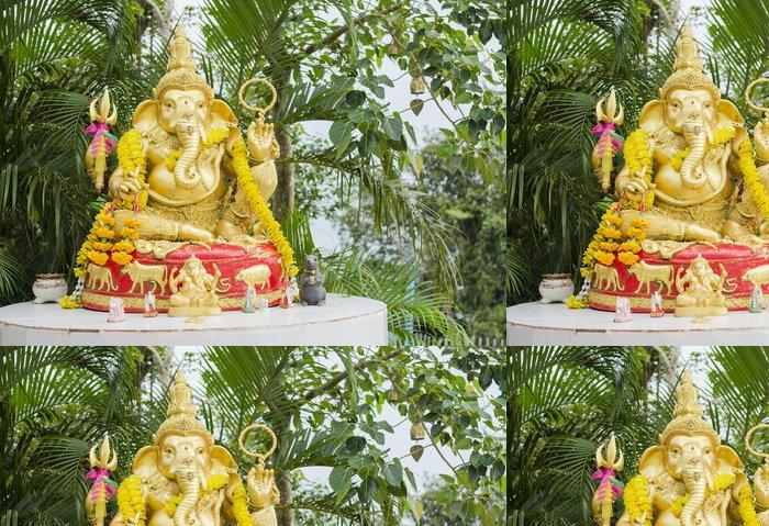 Tapeta Pixerstick Kamenná socha ve tvaru slona zasedání - Asie
