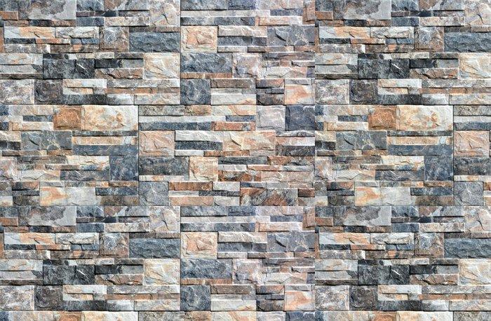 Vinylová Tapeta Kamenná zeď s abstraktním vzorem - Struktury