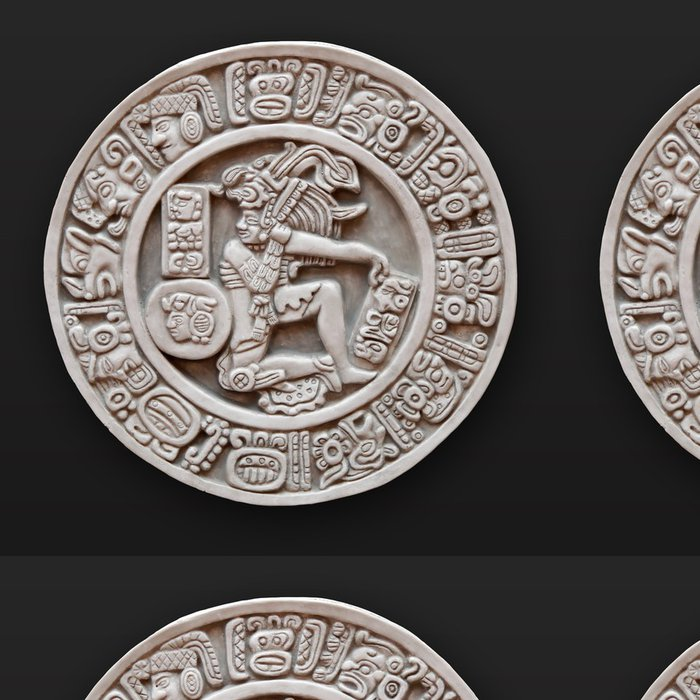 Tapeta Pixerstick Kamenné basreliéf lidské kolo Latinské Americe - Amerika