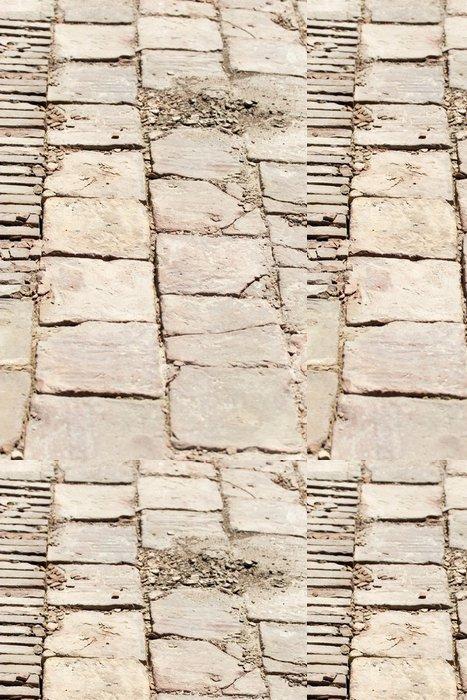 Tapeta Pixerstick Kamenné dlaždice starého města Sauran, Kazachstánu. - Přírodní krásy