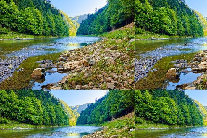 Tapeta Pixerstick Kameny a skály v ráno v Dunajec River Gorge - Témata