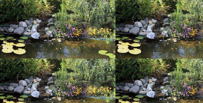 Tapeta Pixerstick Kapr rybník a vodní zahrada - Domov a zahrada