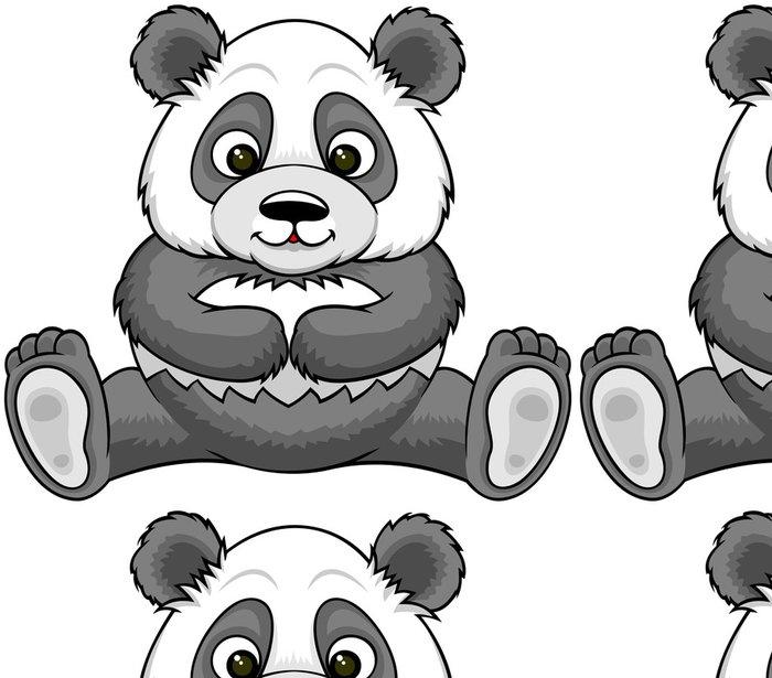 Tapeta Pixerstick Karikatura panda - Nálepka na stěny