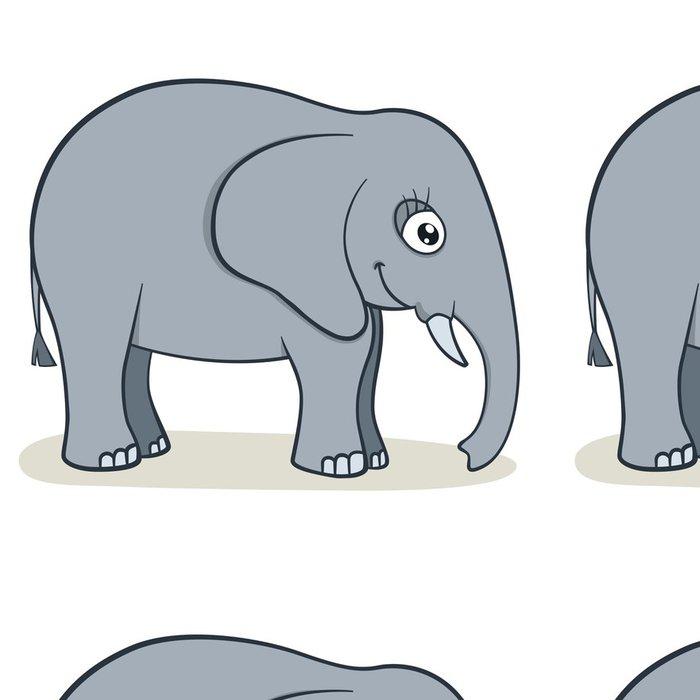 Tapeta Pixerstick Karikatura slon - Savci
