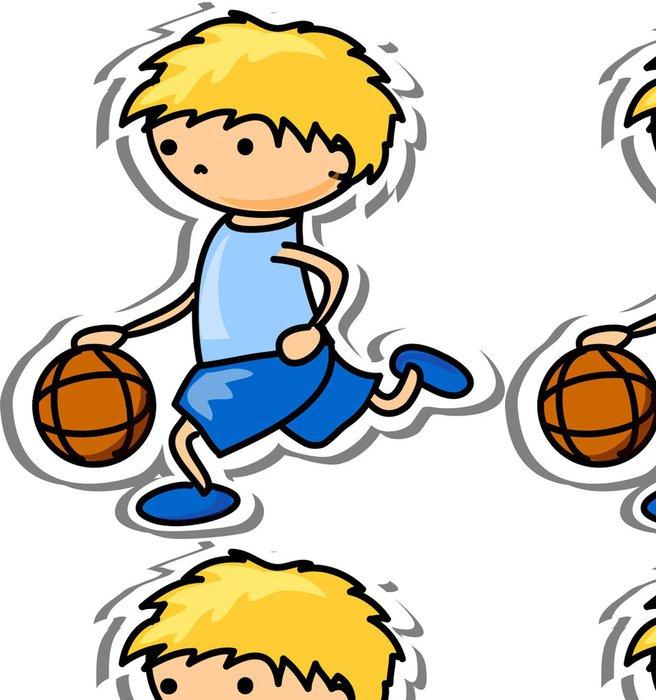 Tapeta Pixerstick Karikatura sportovní ikona - Nálepka na stěny