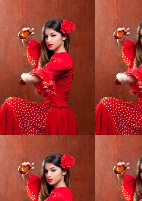 Tapeta Pixerstick Kastaněty gipsy flamenco tanečnice Španělsko dívka - Témata