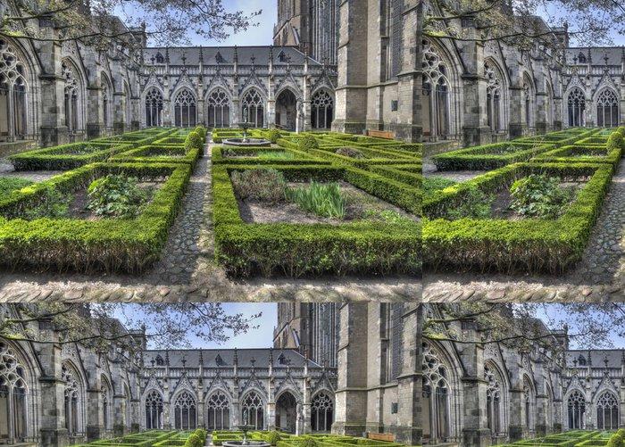 Tapeta Pixerstick Katedrála klášter Garden Utrecht - Veřejné budovy