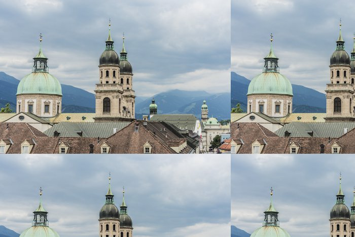 Tapeta Pixerstick Katedrála svatého Jakuba v Innsbrucku, Rakousko. - Evropa