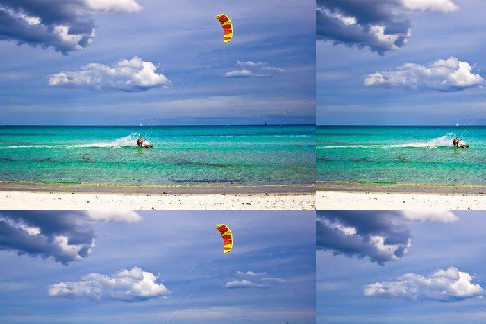 Tapeta Pixerstick Katesurfaři a bílé písečné pláže - Prázdniny