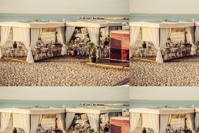 Tapeta Pixerstick Kavárně Beach Barcelona. Katalánsko, Španělsko - Oceánie