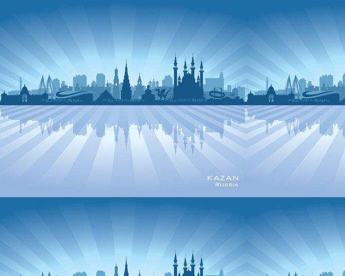Tapeta Pixerstick Kazan Ruska silueta panorama města - Asie