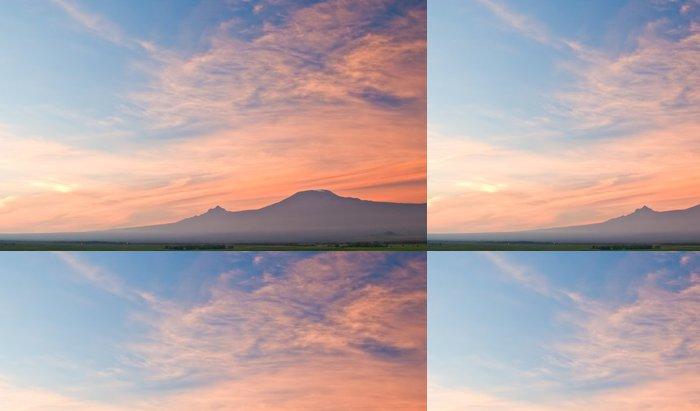 Tapeta Pixerstick Kilimanjaro at Sunrise - Afrika
