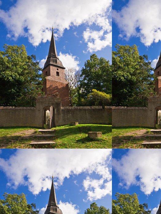 Tapeta Pixerstick Kirche in Mellenthin auf Usedom. - Evropa