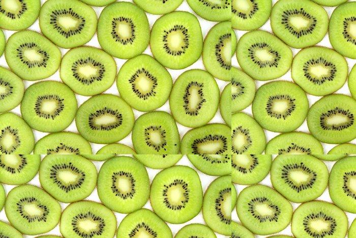 Tapeta Pixerstick Kiwi plátky pozadí, zblízka obraz - Ovoce
