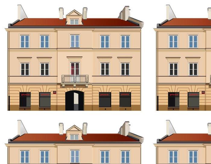 Tapeta Pixerstick Klasicistní fasáda ilustrace - Evropská města