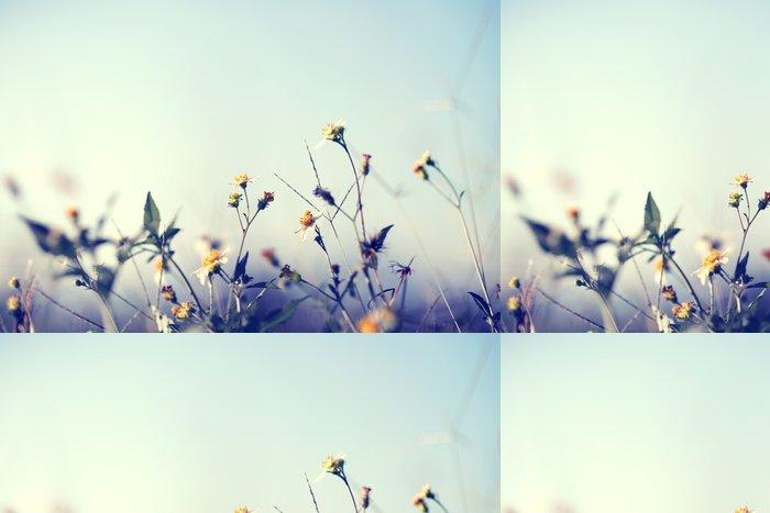 Tapeta Pixerstick Klasická fotografie přírodní pozadí s divokými květinami a jinými rostlinami - Rostliny a květiny
