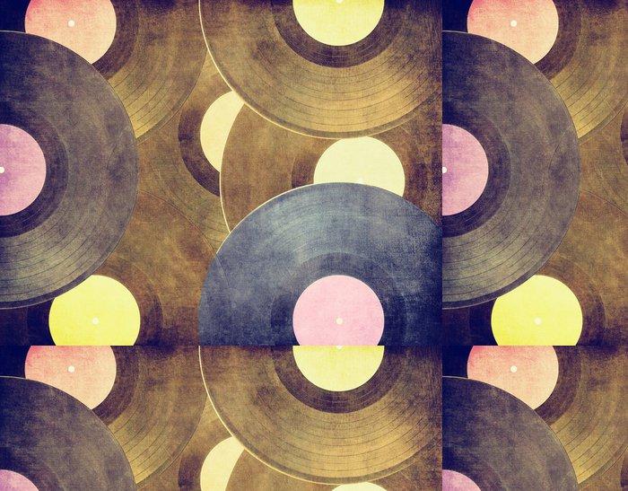 Tapeta Pixerstick Klasické hudební pozadí, vinylové desky - Styly