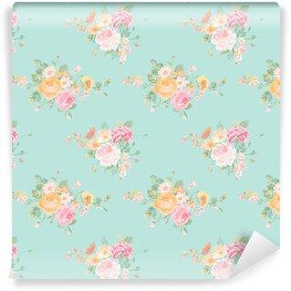 Vinylová Tapeta Klasické květiny pozadí - bezešvé květinový vzor Shabby Chic