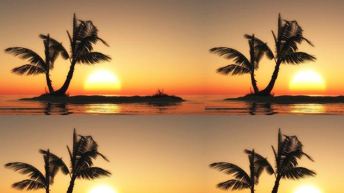 Tapeta Pixerstick Kleine Insel im Sonnenuntergang - Prázdniny