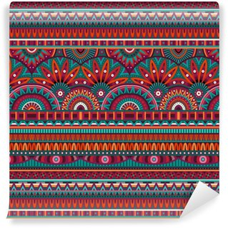 Vinylová Tapeta Kmenové etnické pozadí bezešvé vzor