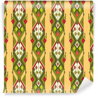 Vinylová Tapeta Kmenový ročník etnický bezešvé vzor. aztécký, mexický, navajo, africký motiv.