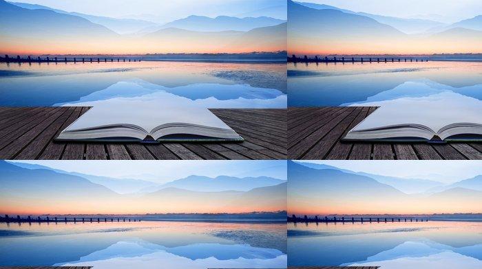 Tapeta Pixerstick Kniha koncepce Double expozice Technika účinek hor a S - Jiné pocity