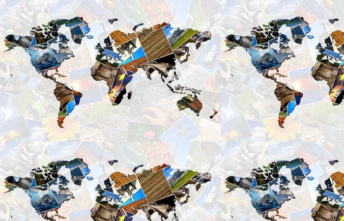Tapeta Pixerstick Koláž mapa světa - Pozadí