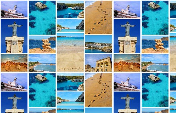 Vinylová Tapeta Koláž s různými pohledy na Menorca, Baleárské ostrovy, Španělsko - Evropa