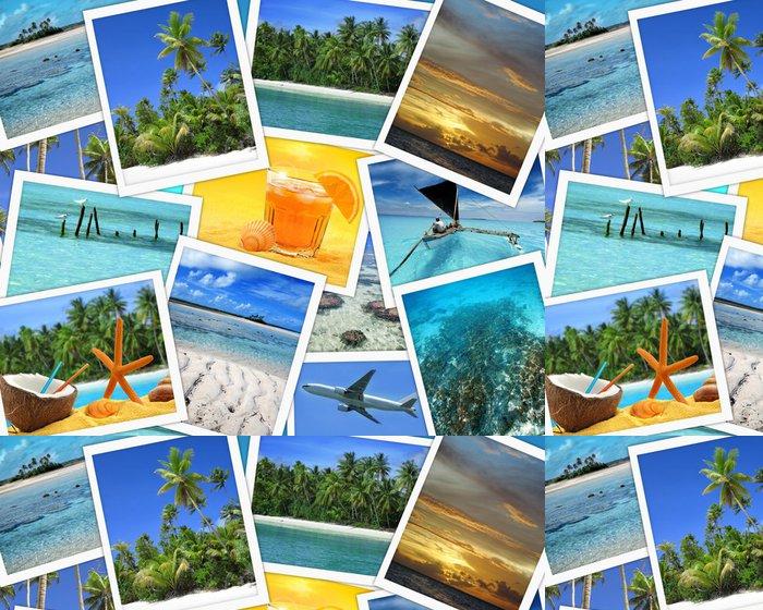 Tapeta Pixerstick Koláž z tropických destinacích - Prázdniny