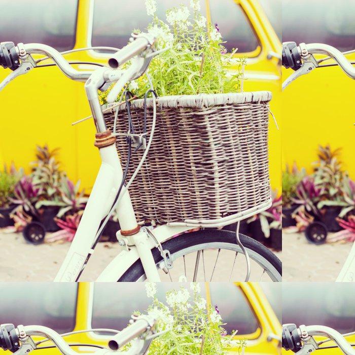 Vinylová Tapeta Kolo - Instagram filtr - Květiny
