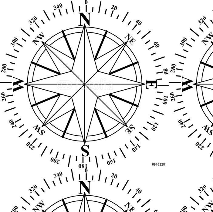 Tapeta Pixerstick Kompas tvář - Doplňky a věci