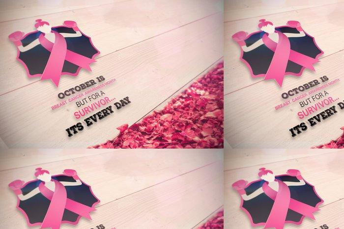Tapeta Pixerstick Kompozitní obraz zprávy rakovina prsu povědomí - Prvky podnikání