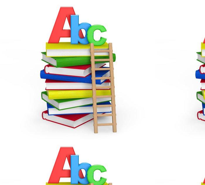 Tapeta Pixerstick Koncepce vzdělávání. Knihy s ABC znamení - Vzdělávání