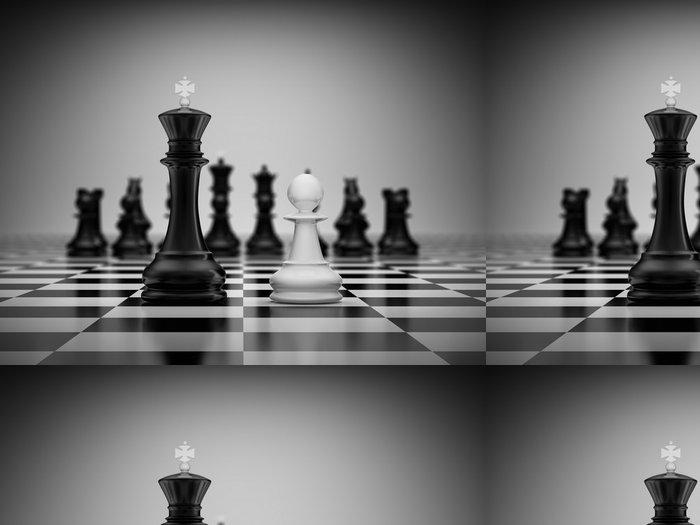 Tapeta Pixerstick Konfrontace král a pěšec - Úspěch